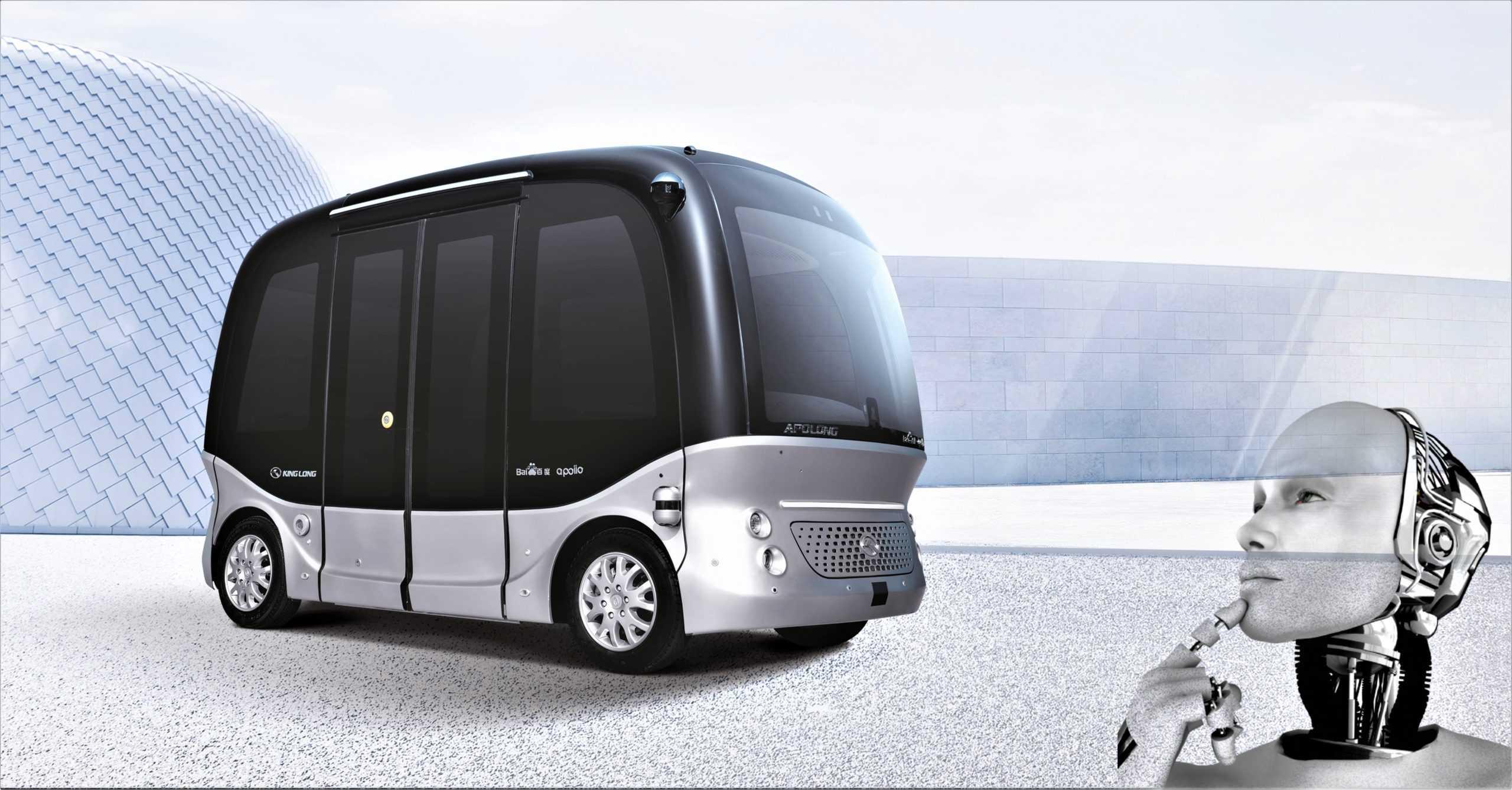 minibus con conducción autónoma