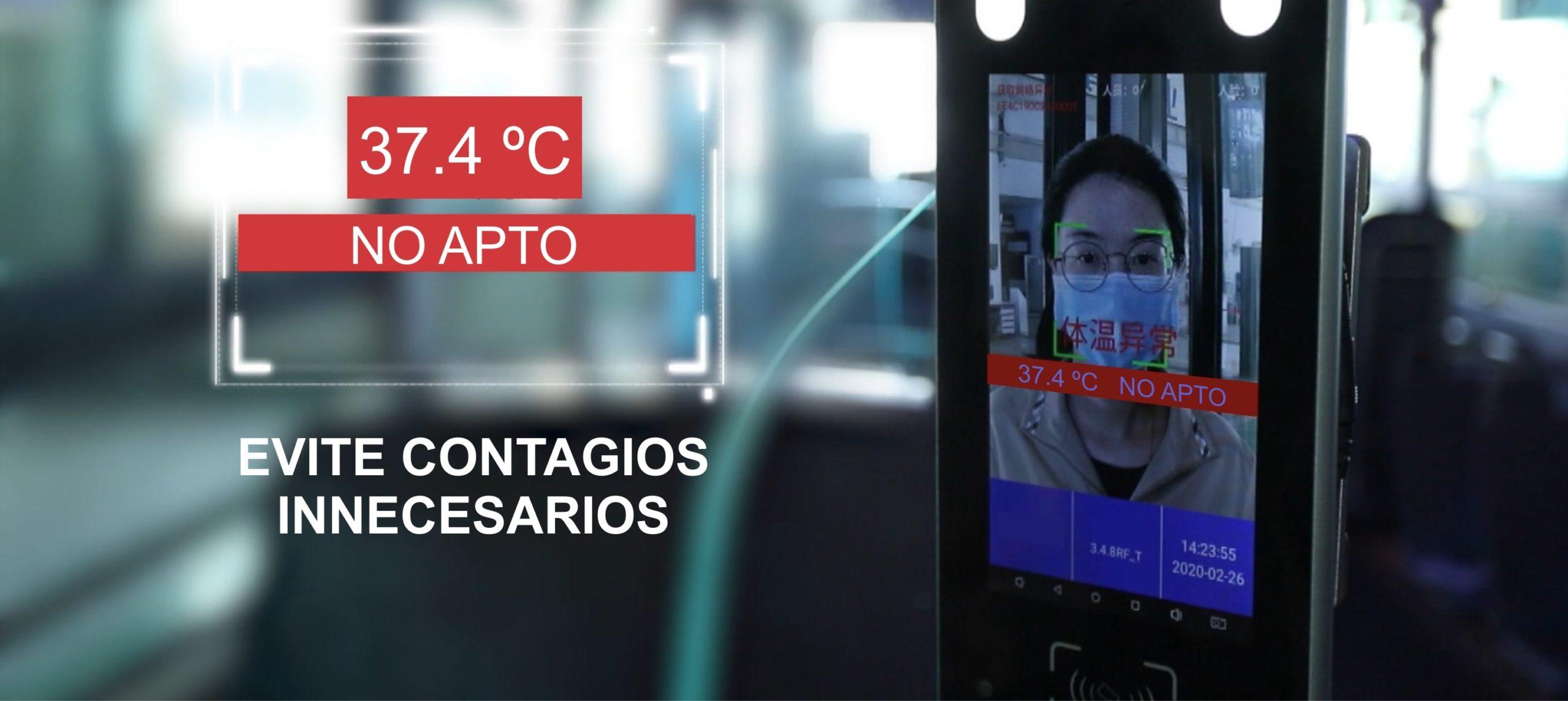MEDIR TEMPERATURA CORPORAL EN TRANSPORTE PÚBLICO