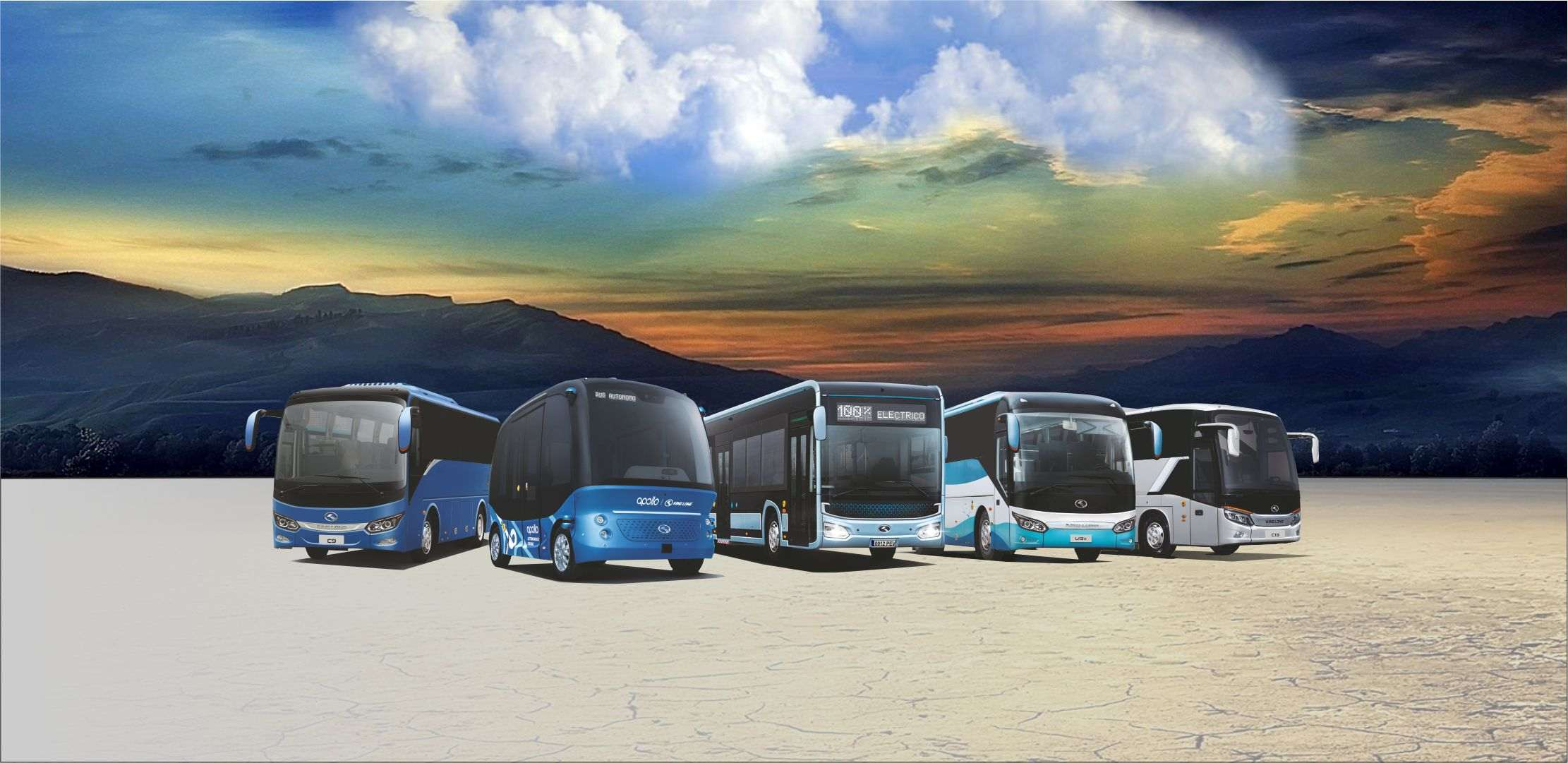 varios autobuses King Long